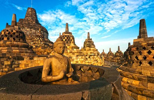 Der Borobudur Palast in Java